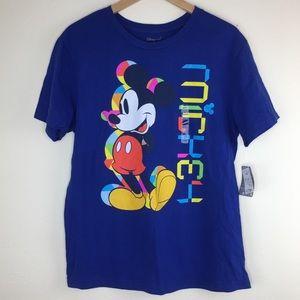 Disney Store Medium Blue Mickey Mouse T-Shirt
